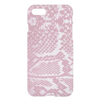 Capa iPhone 8/7 iPhone cor-de-rosa branco Clearly™ da pele de