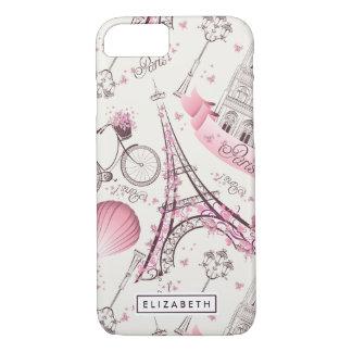 Capa iPhone 8/ 7 iPhone cor-de-rosa da case mate da torre Eiffel de