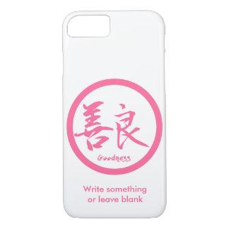 Capa iPhone 8/ 7 iPhone cor-de-rosa de Kamon   do Kanji dos bens 7