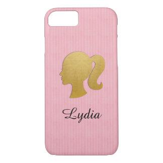 Capa iPhone 8/ 7 iPhone cor-de-rosa do rabo de cavalo dos perfis