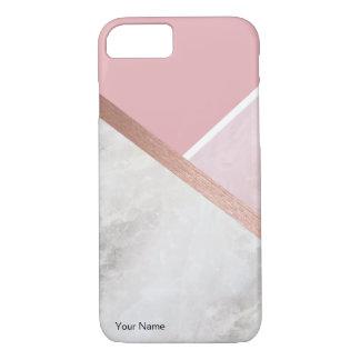 Capa iPhone 8/ 7 iPhone cor-de-rosa personalizado de Apple do ouro