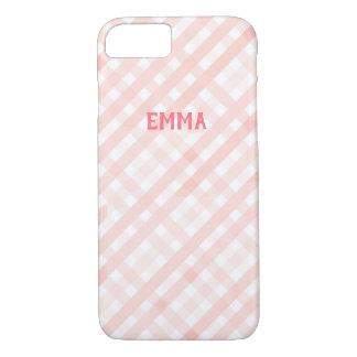 Capa iPhone 8/ 7 iPhone customizável do guingão do rosa Pastel 7/8