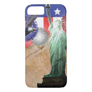 Capa iPhone 8/ 7 iPhone da bandeira americana 7 fogos-de-artifício
