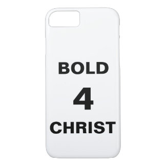 "Capa iPhone 8/ 7 iPhone de ""Bold4Christ"" Apple 8/7 de caso"