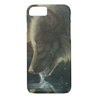 Capa iPhone 8/ 7 Iphone do lobo do bebendo 6/7 de caso