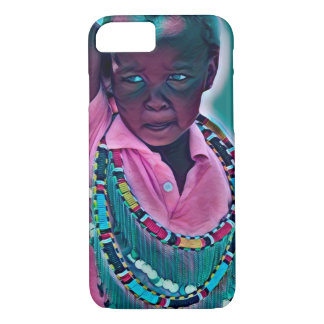 Capa iPhone 8/ 7 iPhone do miúdo de Maasai do africano/caixa