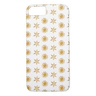 Capa iPhone 8/ 7 iPhone dourado 8/7 de Apple dos flocos de neve,