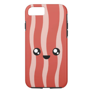 Capa iPhone 8/ 7 iPhone feliz 7 & do bacon de Kawaii caso 8