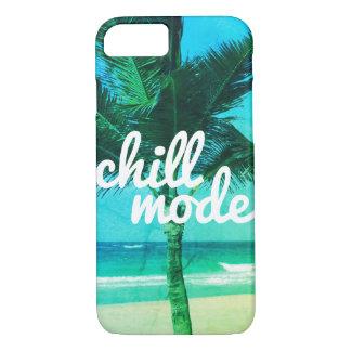 Capa iPhone 8/ 7 iPhone frio da cena da praia do verde azul do modo