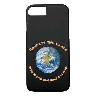 Capa iPhone 8/ 7 iPhone futuro do respeito da terra do planeta 8/7
