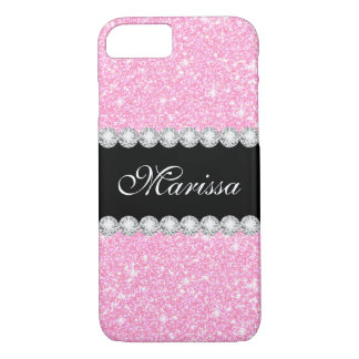 Capa iPhone 8/ 7 iPhone Glam da case mate do brilho do rosa Pastel