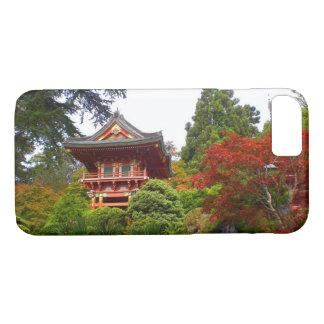 Capa iPhone 8/ 7 iPhone japonês da porta #3 do templo do jardim de