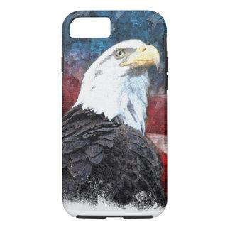 Capa iPhone 8/ 7 iPhone patriótico 7 Shell com águia americana e