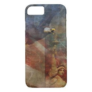 Capa iPhone 8/ 7 iPhone patriótico 7 Shell com arte da águia
