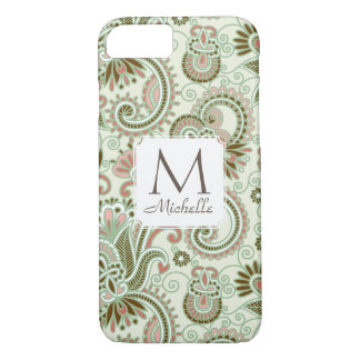 Capa iPhone 8/ 7 iPone verde floral 7 do indiano do leste do