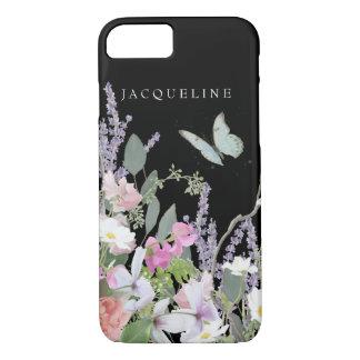 Capa iPhone 8/ 7 Jardim selvagem da lavanda floral Pastel pintado