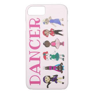 Capa iPhone 8/ 7 Jazz cor-de-rosa Acro Hip Hop da torneira da