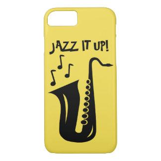 Capa iPhone 8/ 7 Jazz ele acima do saxofone Iphone 7 caso de 8 x