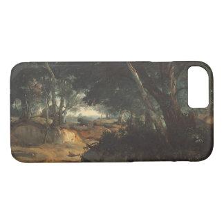 Capa iPhone 8/ 7 Jean-Baptiste-Camilo Corot - floresta de