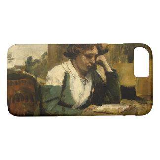 Capa iPhone 8/ 7 Jean-Baptiste-Camilo Corot - leitura da rapariga