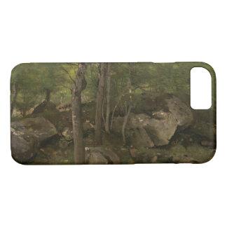 Capa iPhone 8/ 7 Jean-Baptiste-Camilo Corot - rochas na floresta
