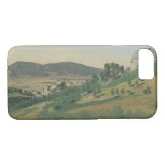 Capa iPhone 8/ 7 Jean-Baptiste-Camilo Corot - vista de Olevano