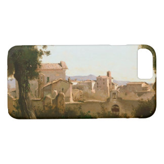 Capa iPhone 8/ 7 Jean-Baptiste-Camilo Corot - vista do Farnese