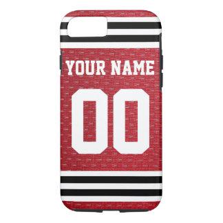 Capa iPhone 8/ 7 Jérsei personalizado do hóquei dos esportes