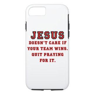 Capa iPhone 8/ 7 Jesus: Não um preto & um vermelho do fã de