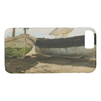Capa iPhone 8/ 7 Joaquin Sorolla - barcos de pesca na praia