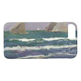 Capa iPhone 8/ 7 Joaquin Sorolla - velas do navio no mar