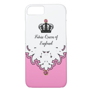 Capa iPhone 8/ 7 Jóia de coroa real da monarquia da rainha