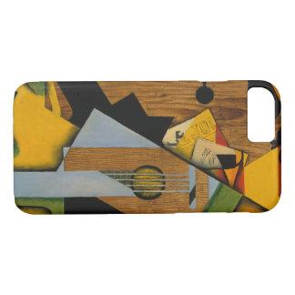Capa iPhone 8/ 7 Juan Gris - ainda vida com uma guitarra