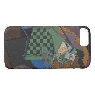 Capa iPhone 8/ 7 Juan Gris - cartões do tabuleiro de damas e de