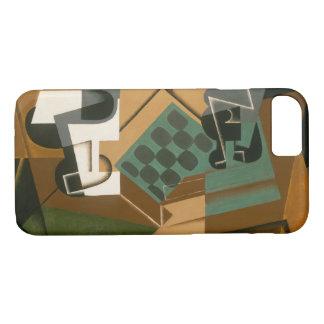 Capa iPhone 8/ 7 Juan Gris - tabuleiro de xadrez, vidro, e prato