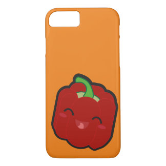 Capa iPhone 8/ 7 Kawaii e pimenta vermelha engraçada