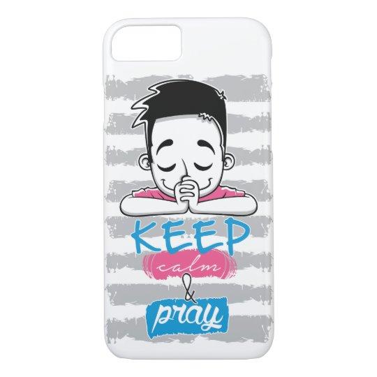 Capa iPhone 8/ 7 Keep calm and pray