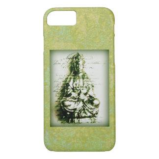 Capa iPhone 8/ 7 Kwan verde antigo Yin