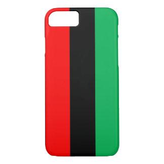 Capa iPhone 8/ 7 Kwanzaa colore o teste padrão verde preto vermelho