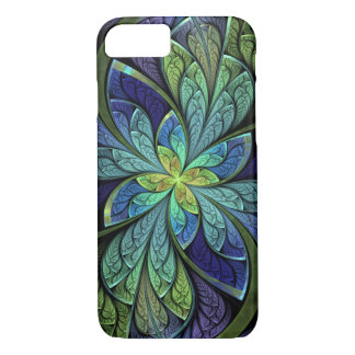 Capa iPhone 8/ 7 La floral abstrato Chanteuse IV do vitral
