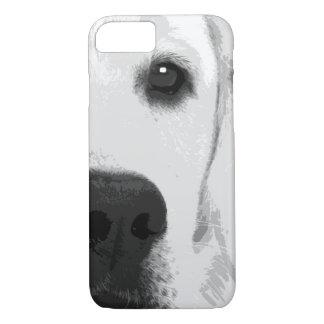 Capa iPhone 8/ 7 Labrador retriever preto e branco