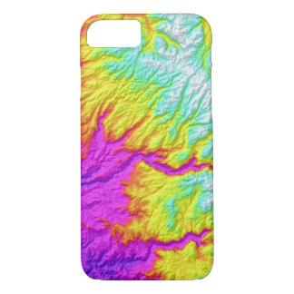 Capa iPhone 8/ 7 Laço abstrato de Califórnia das variações tingido