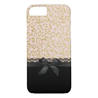 Capa iPhone 8/ 7 Laço preto chique & fita do impressão na moda do