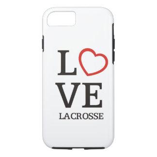 Capa iPhone 8/ 7 Lacrosse grande do AMOR