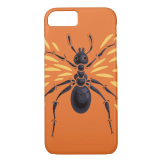 Capa iPhone 8/ 7 Laranja voada da formiga impetuosamente