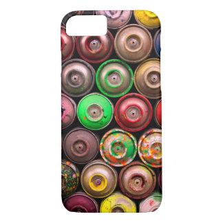 Capa iPhone 8/ 7 Latas empilhadas coloridas da pintura pistola