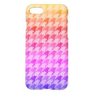 Capa iPhone 8/7 Lavanda cor-de-rosa brilhante Ombre de Houndstooth