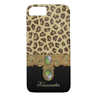 Capa iPhone 8/ 7 Leopardo selvagem da elegância