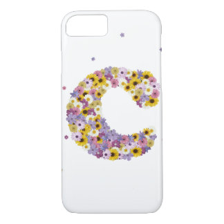 Capa iPhone 8/ 7 Letra C da flor