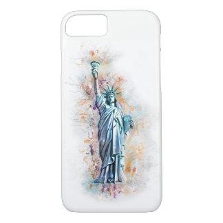 Capa iPhone 8/ 7 Liberty, estátua de liberdade, Nova Iorque,